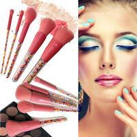 Pro Candy Kabuki Make Up Brush Set Cosmetic Brushes Face Powder Makeup Tools