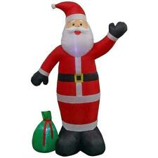 Gemmy Home Accents 9 FT Giant-sized LED Santa With Gift Sack Airblown Inflatable