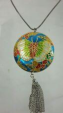 Enamel Pendant/Locket Vintage Costume Jewellery (1970s)