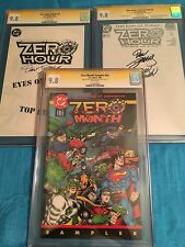 Zero Hour #0, Ashcan, Sampler  - DC - CGC SS 9.8 NM/MT -Signed by Jurgens/Ordway