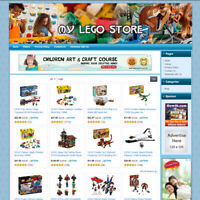 Lego Toys & Kits Store - Online Business Website For Sale! Free Domain & Hosting