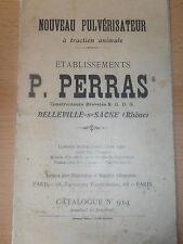 catalogue pulvérisateur Perras - Belleville sur Saône ( ref 17 )