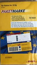 10 Stück DHL Paketmarken Europa Bis 10 Kg