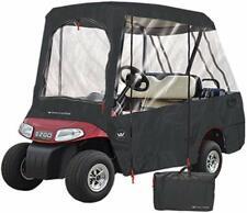 Greenline 2 Passenger Roof / 4 Passenger Seating Golf Cart Enclosure - Black