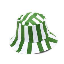 US Unisex Bleach Cosplay Hat Japanese Anime Costume Basin Cap Green&White Stripe