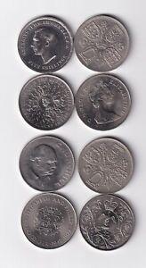 Großbritannien 8 Münzen Crown Size ab 1951 nsw-leipzig