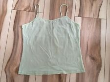 Jacqui-E Singlet - Size L - Green  - 5 or more items free postage (AU only)