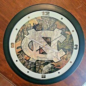 "North Carolina Tarheels 11.5"" Camo Durable Plastic Wall Clock"