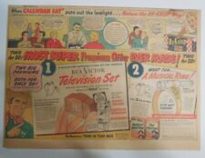 """Ralston Cereal Ad: Tom Mix """"Television Set"""" Premium 1949 Size:11 x 15 inches"""