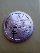 5 oz. YEAR OF THE OX  2021  Copper Round Coin  GOLDEN STATE MINT