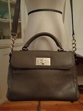 KATE SPADE New York gray 100% leather shoulder bag or satchel