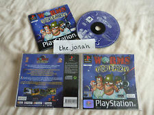 Worms World Party PS1 (COMPLETE) rare black label Sony PlayStation strategy