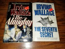 Lot of 2 Irving Wallace paperbacks, The Seventh Secret, The Almighty