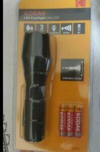 Kodak led flashlight torchlight zoomable 300m 290 lumens