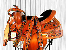 USED 15 16 SHOW TRAIL TOOLED LEATHER WESTERN BARREL RACING SADDLE TACK SET