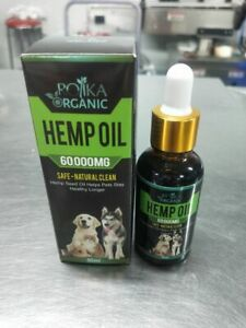 Rolika Dog Hemp Oil for Cats & Pets 60000mg Relieve Joint Pain Relief Max 30ml