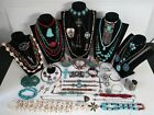 Vtg. Native American Style Jewelry Lot of 50++Bracelets Earrings Necklaces Rings