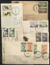 New Zealand Collection 7 Health Stamp Covers Used