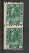 Canada #123i Never Hinged Mint Paste Up Pair