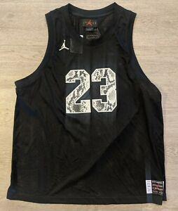 Nike Jumpman Air Jordan Retro 11 Snakeskin Black Jersey Size xl CI0304-010 $110