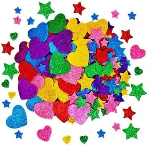 260 Pcs Home Decoration Stars Colorful Glitter Foam Stickers Self Adhesive Stars
