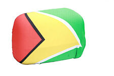 GUYANA COUNTRY FLAG CAR SIDE MIRROR COVERS..2 IN A PACK..NEW