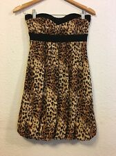 XXi Women's Animal Print Strapless Mini Dress Size Medium (c10)