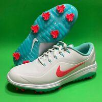 New NIKE React Vapor 2 Golf Shoes White/Teal/Punch BV1135-105 MEN'S Size 8