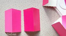 20 Hot Pink & Bubblegum Pink Deckle Edge Card 89mm x 58mm & Env NEW