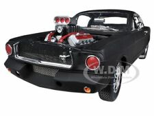 1965 SHELBY MUSTANG GT350R MATT BLACK RACE ENGINE 1/18 SHELBY COLLECTIBLES SC178
