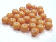 100 Pcs -  6mm Orange Glass Imitation Gemstone Dyed Bead C13