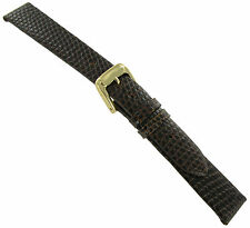 12mm Speidel Lizard Grain Brown Genuine Leather Anti-Allergic Watch Band Regular
