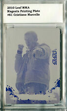 2010 Leaf MMA CRISTIANO MARCELLO Magenta Printing Plate Beckett BCCG Holder 1/1