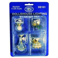 Dolls House Ceiling Light Set selection of 4 popular 1:12 Scale miniature DE101