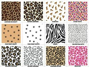 "ANIMAL PRINT Gift Grade Tissue Paper Sheets 15"" x 20"" Choose PRINT & Amount"