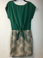 """Chelsea and Violet Womens L Dress"""" Boho Embroidered Green"""