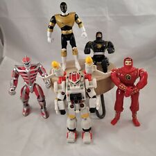 Lot of 5 1990s Bandai Power Rangers Toy Action Figures Lord Zed, Zeo Sil, Etc