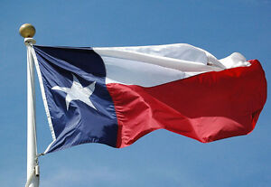 8'x12' Texas Flag Synthetic Cotton 8x12ft Flag Banner 100% Embroidered Sewn 2ply