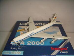 """Herpa Wings Luftwaffe B707-300C """"2000s color - August Euler"""" 1:500 OG ILA 2000"""