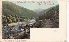 B80830 cierras de cordoba railroad  buenos aires  argentina  front/back image