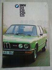 BMW 518, 520, 520i, 525 range brochure Aug 1974