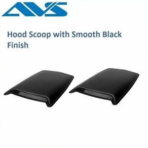 AVS Large Black 2-Piece Hood Scoop with Smooth Black Finish - 80001