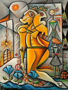 Cubist oil painting by Adrian Doni !!