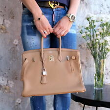 HERMES Birkin 35cm Tabak 2013 Q palladium hardware Veau Togo clemence bag purse
