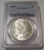 PCGS 1885 O Morgan Silver Dollar MS63*