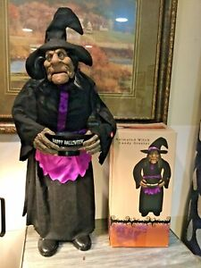 Cracker Barrel Animated Witch Candy Greeter ~ Halloween