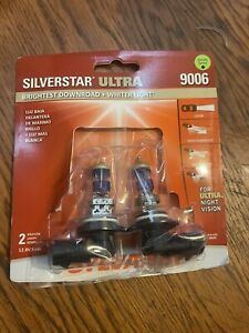Sylvania Silverstar ULTRA 9006 Pair Set High Performance Headlight 2 Bulbs