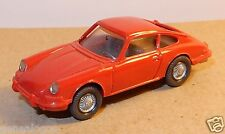 MICRO WIKING HO 1/87 PORSCHE 911 ROUGE phares peints bis