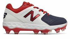 New Balance Low-Cut fresco Espuma spvelo TPU Softbol Botín De Mujer Zapatos Rojo Con