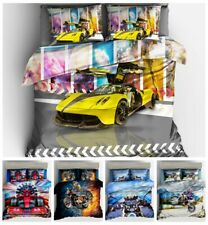 3D Racing Cars Bedding Set Motorcycle Race Duvet Cover Pillowcase Quilt Cover